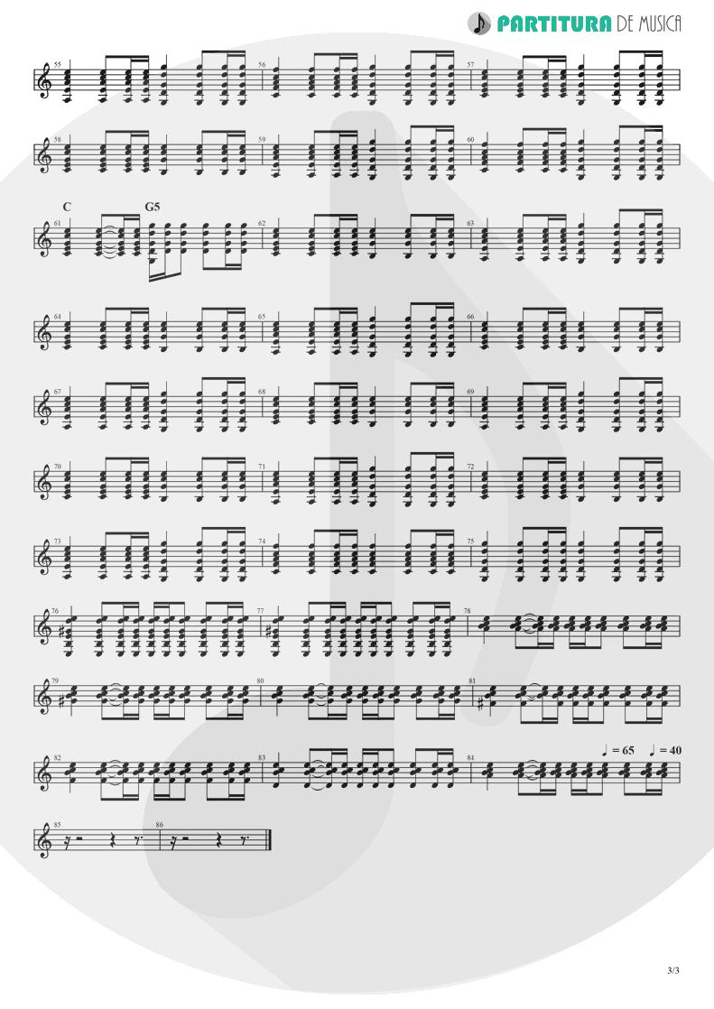 Partitura de musica de Guitarra Elétrica - The Masterplan | Oasis | The Masterplan 1998 - pag 3
