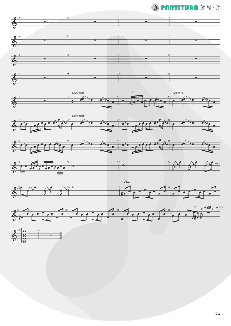 Partitura de musica de Guitarra Elétrica - The Masterplan | Oasis | The Masterplan 1998 - pag 2