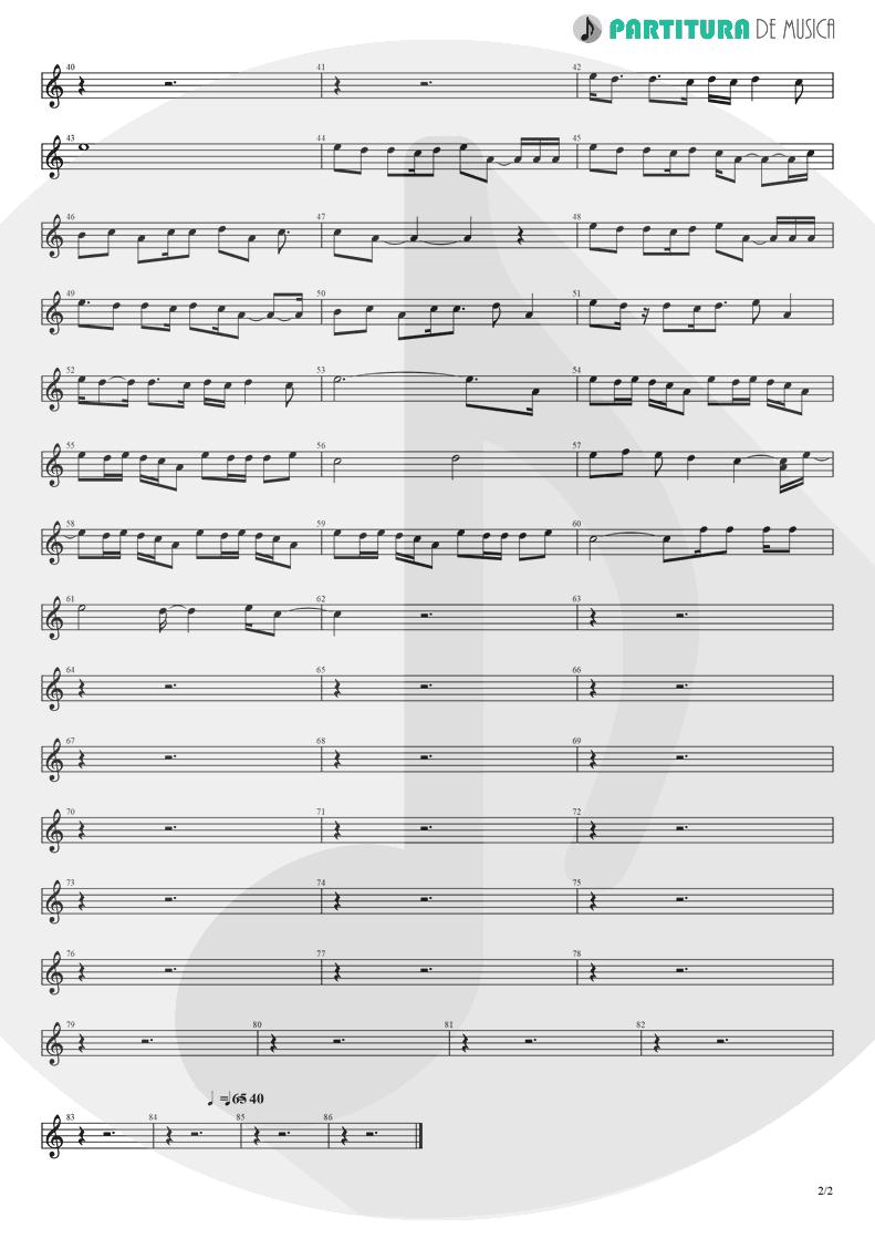 Partitura de musica de Piano - The Masterplan | Oasis | The Masterplan 1998 - pag 2