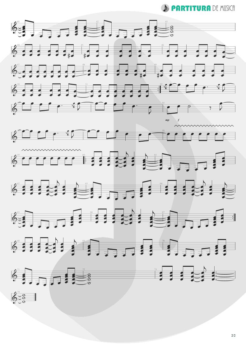Partitura de musica de Guitarra Elétrica - I Can See A Liar | Oasis | Standing on the Shoulder of Giants 2000 - pag 2