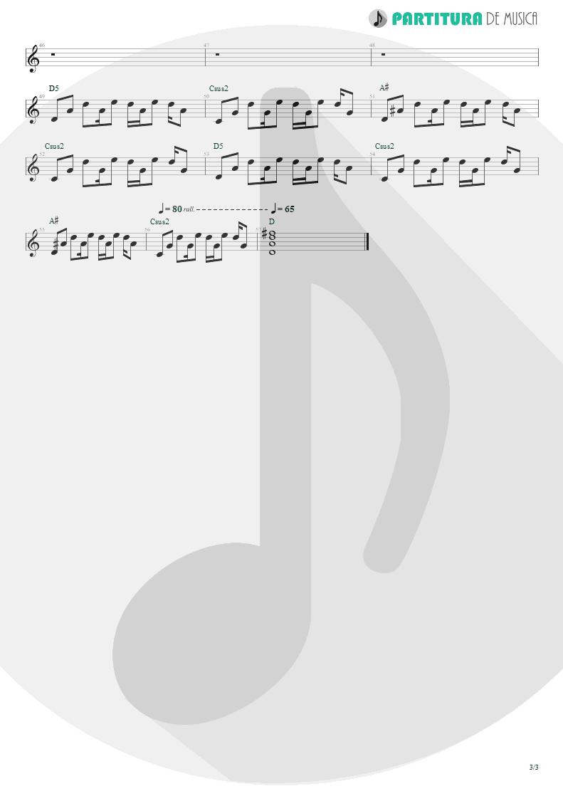 Partitura de musica de Guitarra Elétrica - Little By Little | Oasis | Heathen Chemistry 2002 - pag 3