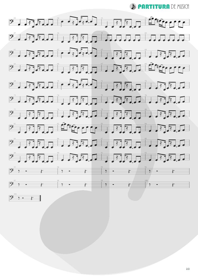 Partitura de musica de Baixo Elétrico - Stop Crying Your Heart Out | Oasis | Heathen Chemistry 2002 - pag 2