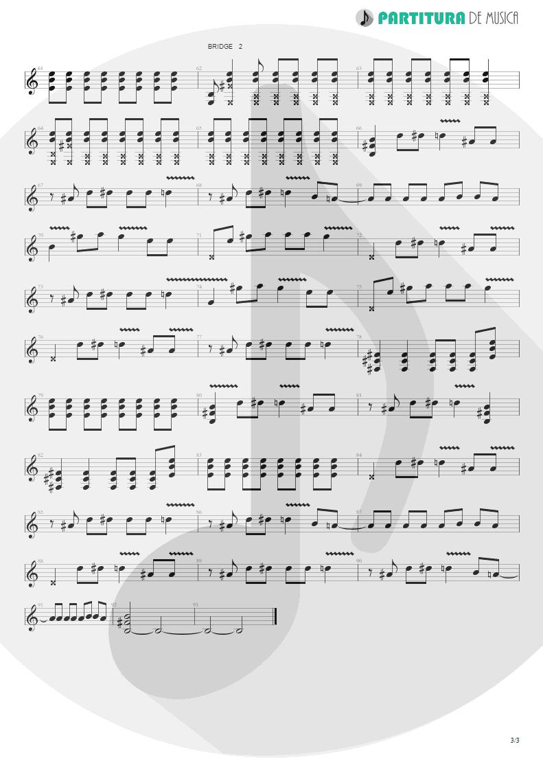 Partitura de musica de Guitarra Elétrica - The Hindu Times | Oasis | Heathen Chemistry 2002 - pag 3