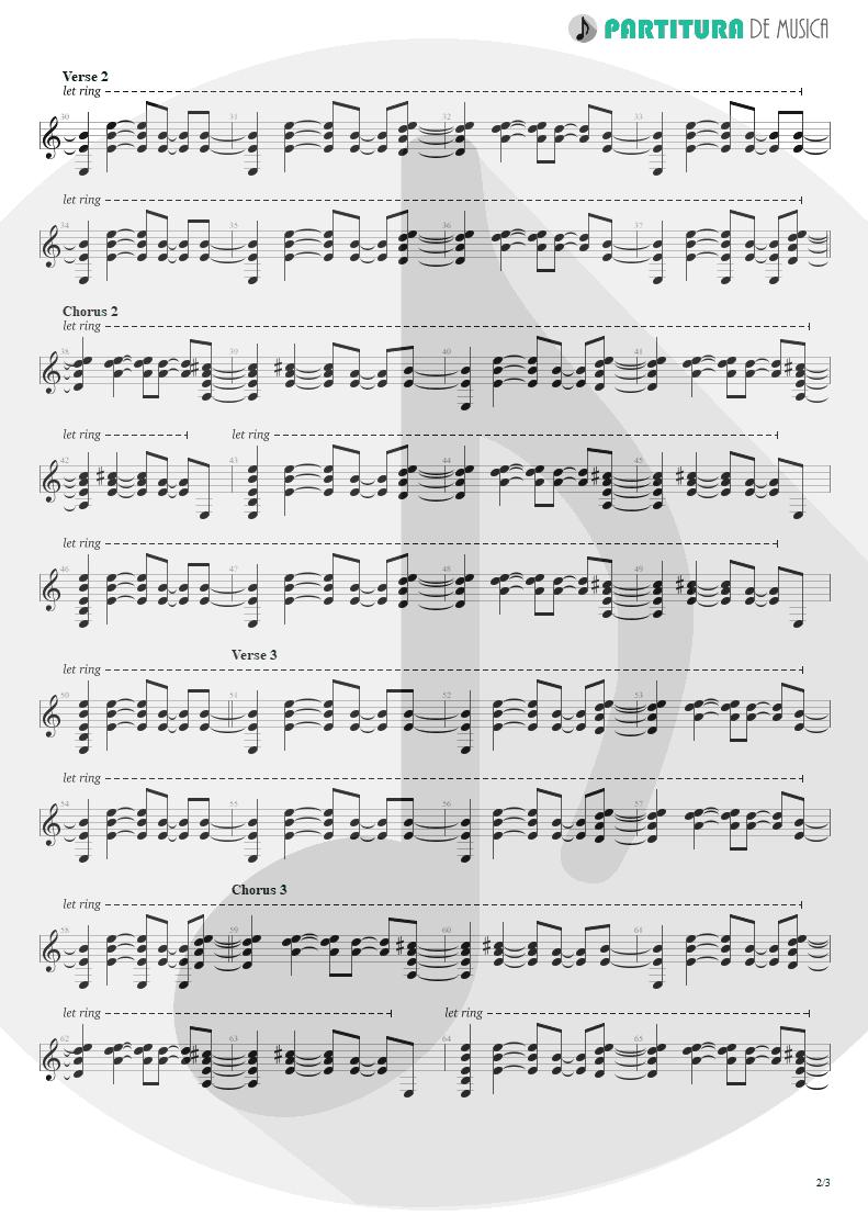 Partitura de musica de Guitarra Elétrica - A Bell Will Ring | Oasis | Don't Believe the Truth 2005 - pag 2