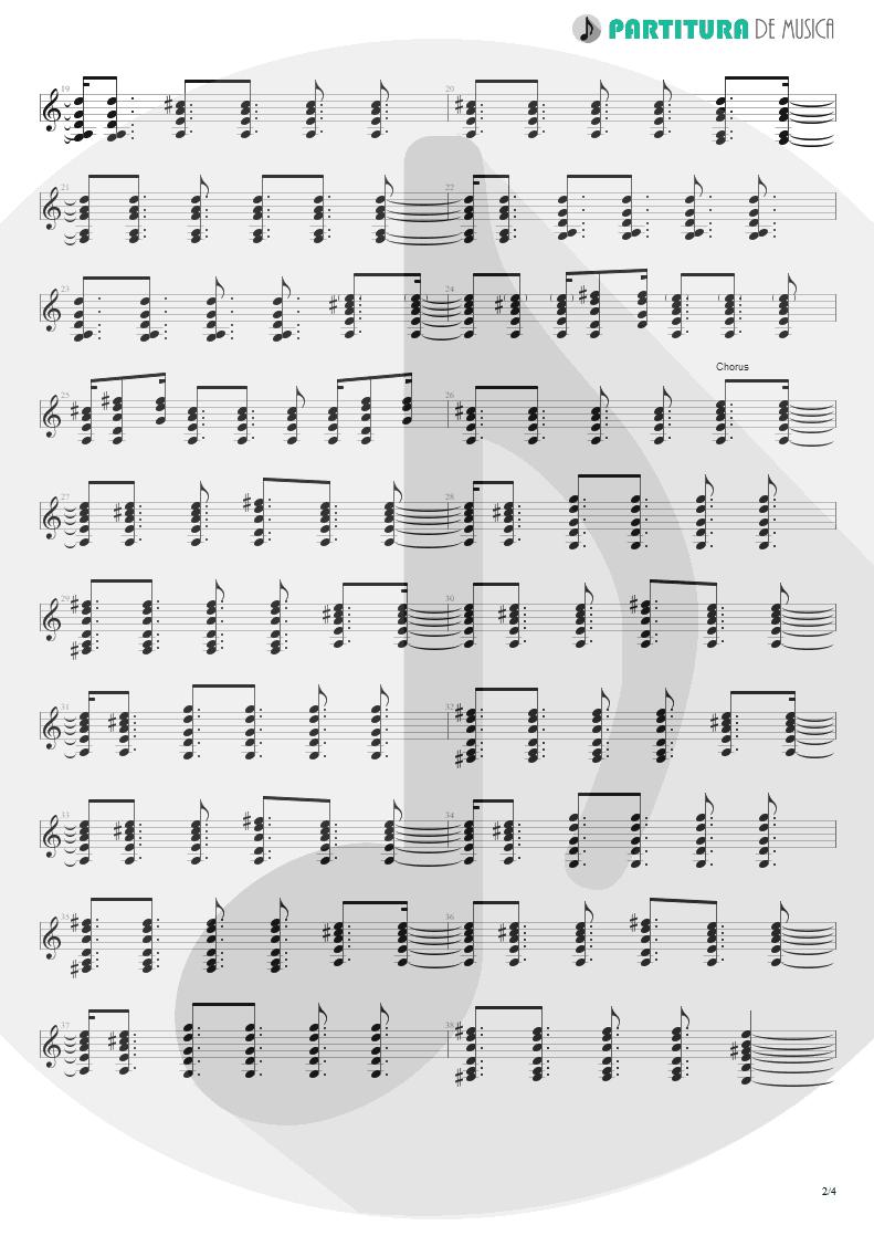 Partitura de musica de Guitarra Elétrica - Lyla | Oasis | Don't Believe the Truth 2005 - pag 2