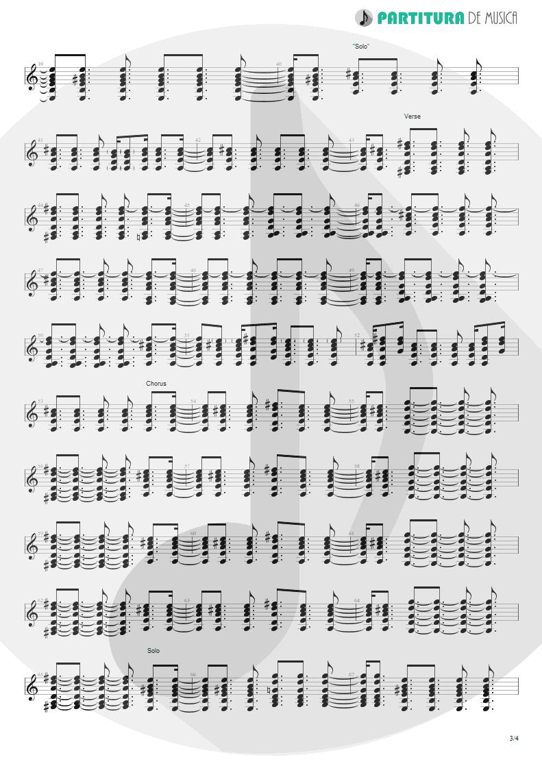 Partitura de musica de Guitarra Elétrica - Lyla | Oasis | Don't Believe the Truth 2005 - pag 3