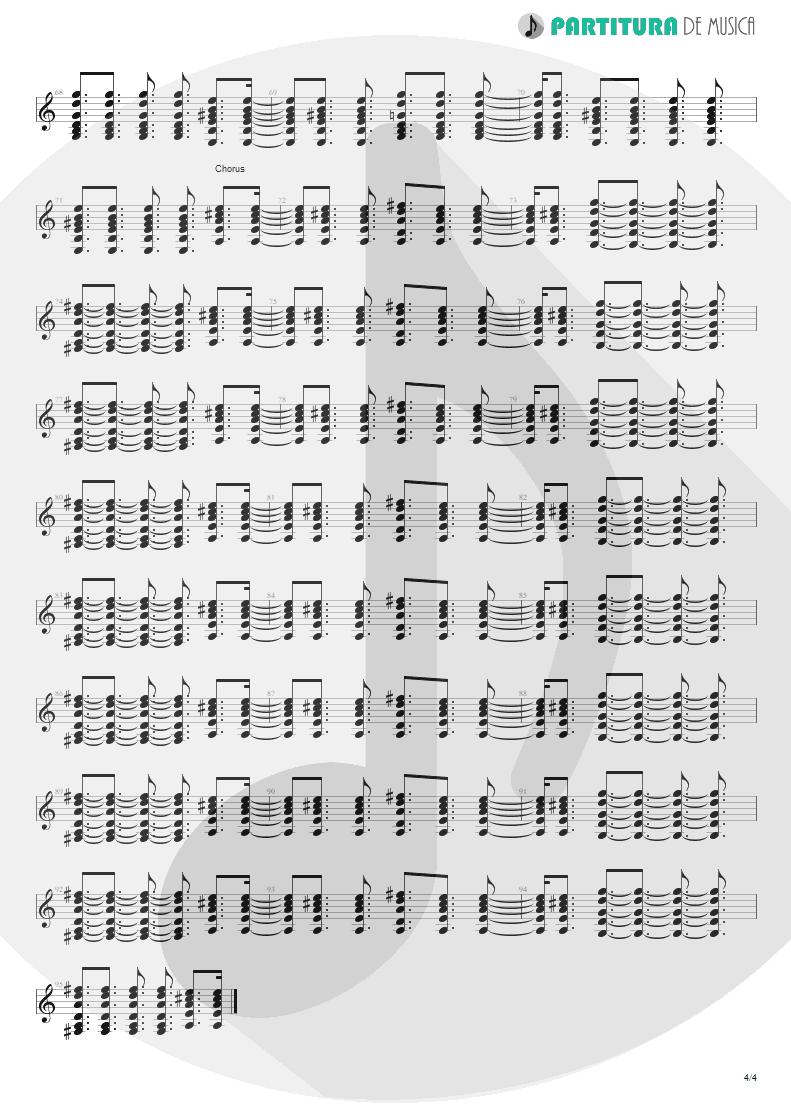 Partitura de musica de Guitarra Elétrica - Lyla | Oasis | Don't Believe the Truth 2005 - pag 4