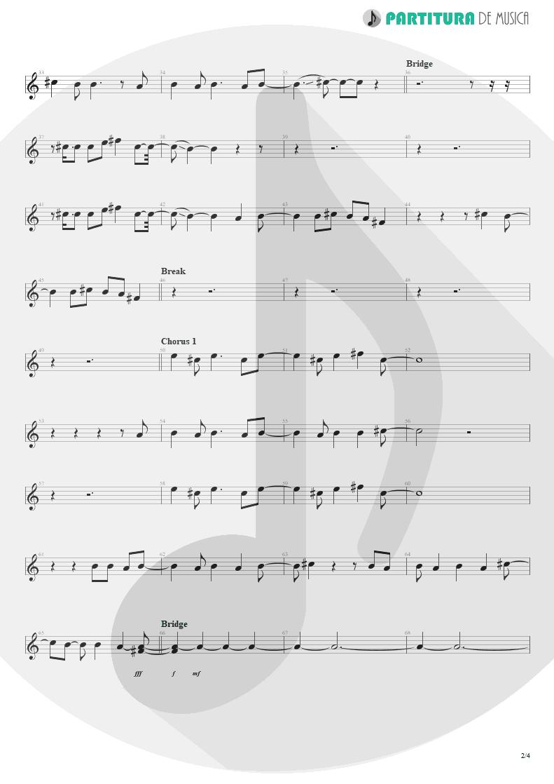 Partitura de musica de Canto - Falling Down | Oasis | Dig Out Your Soul 2008 - pag 2