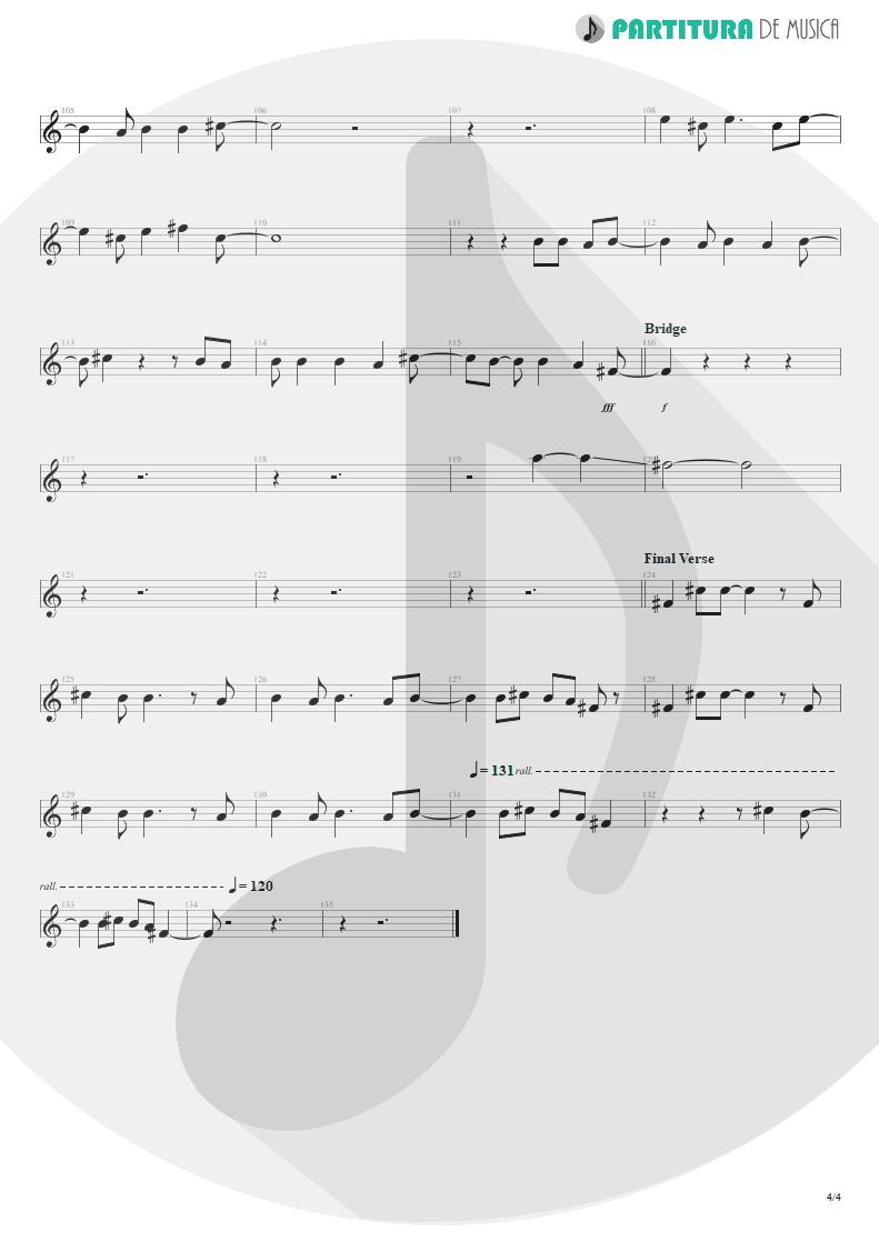 Partitura de musica de Canto - Falling Down | Oasis | Dig Out Your Soul 2008 - pag 4