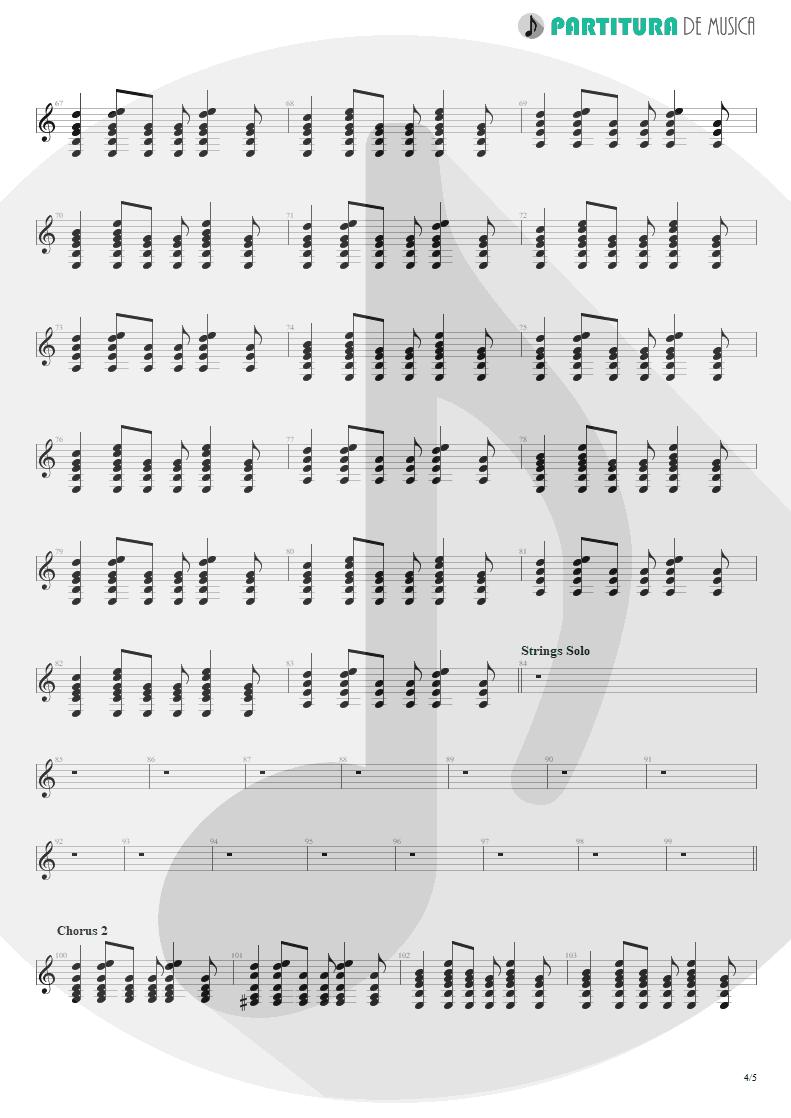 Partitura de musica de Guitarra Elétrica - Falling Down | Oasis | Dig Out Your Soul 2008 - pag 4