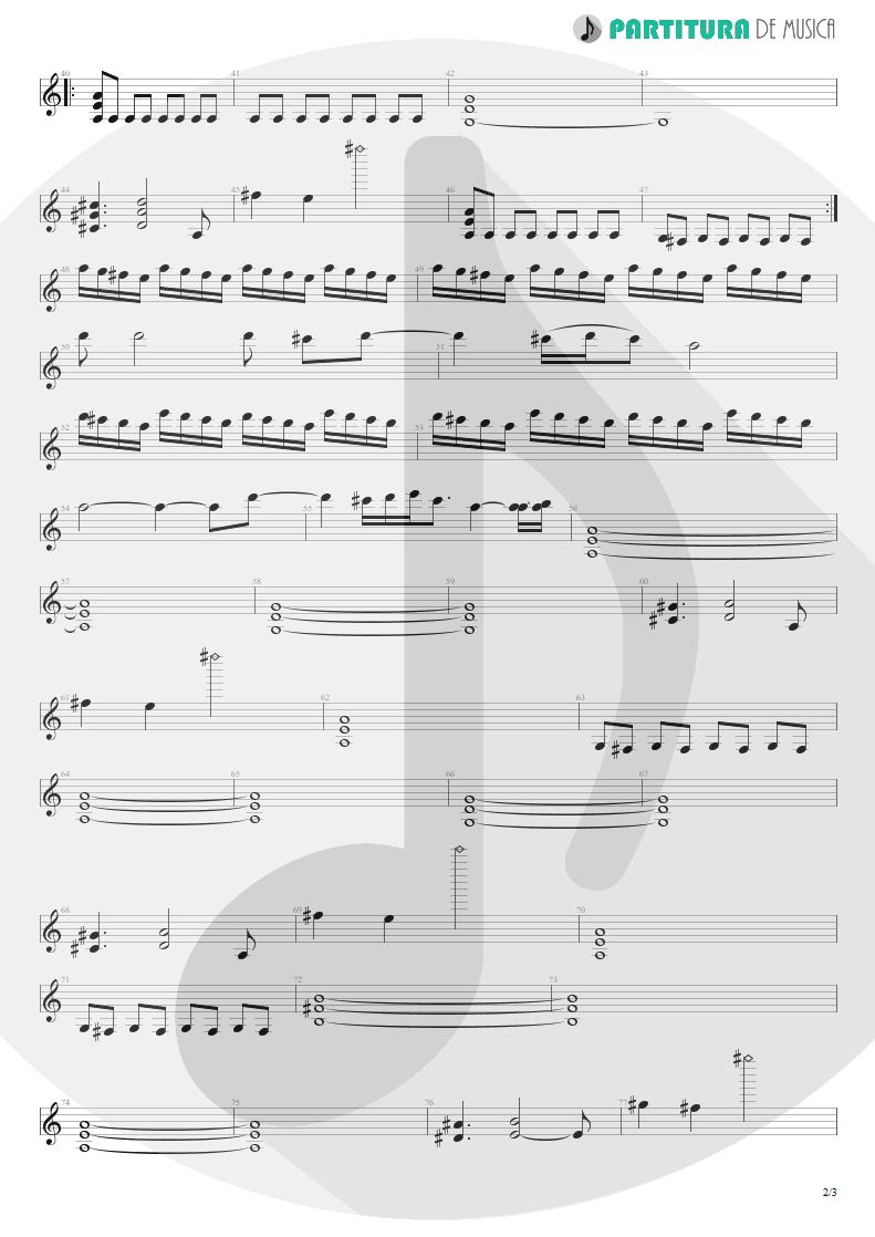 Partitura de musica de Guitarra Elétrica - Mais Que Vencedores | Oficina G3 | Nada é Tão Novo, Nada é Tão Velho 1993 - pag 2