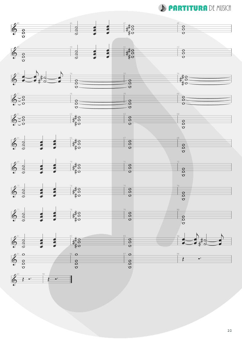 Partitura de musica de Canto - Davi | Oficina G3 | Indiferença 1996 - pag 2