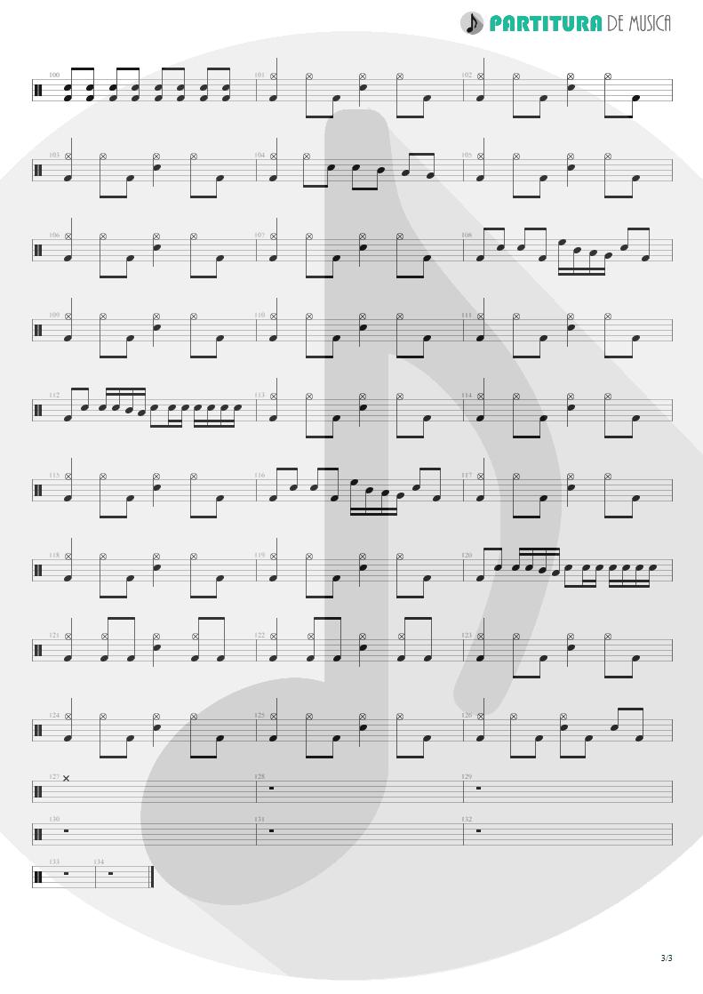 Partitura de musica de Bateria - Your Eyes   Oficina G3   Indiferença 1996 - pag 3