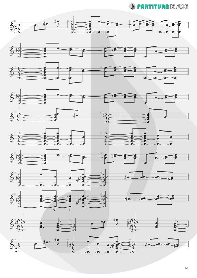 Partitura de musica de Guitarra Elétrica - Your Eyes | Oficina G3 | Indiferença 1996 - pag 2
