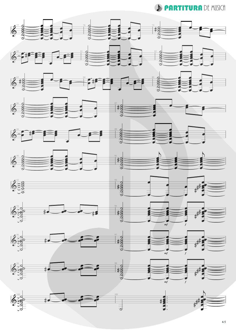Partitura de musica de Guitarra Elétrica - Your Eyes | Oficina G3 | Indiferença 1996 - pag 4