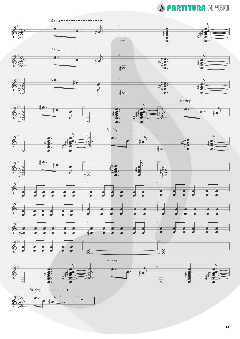 Partitura de musica de Guitarra Elétrica - Your Eyes | Oficina G3 | Indiferença 1996 - pag 5