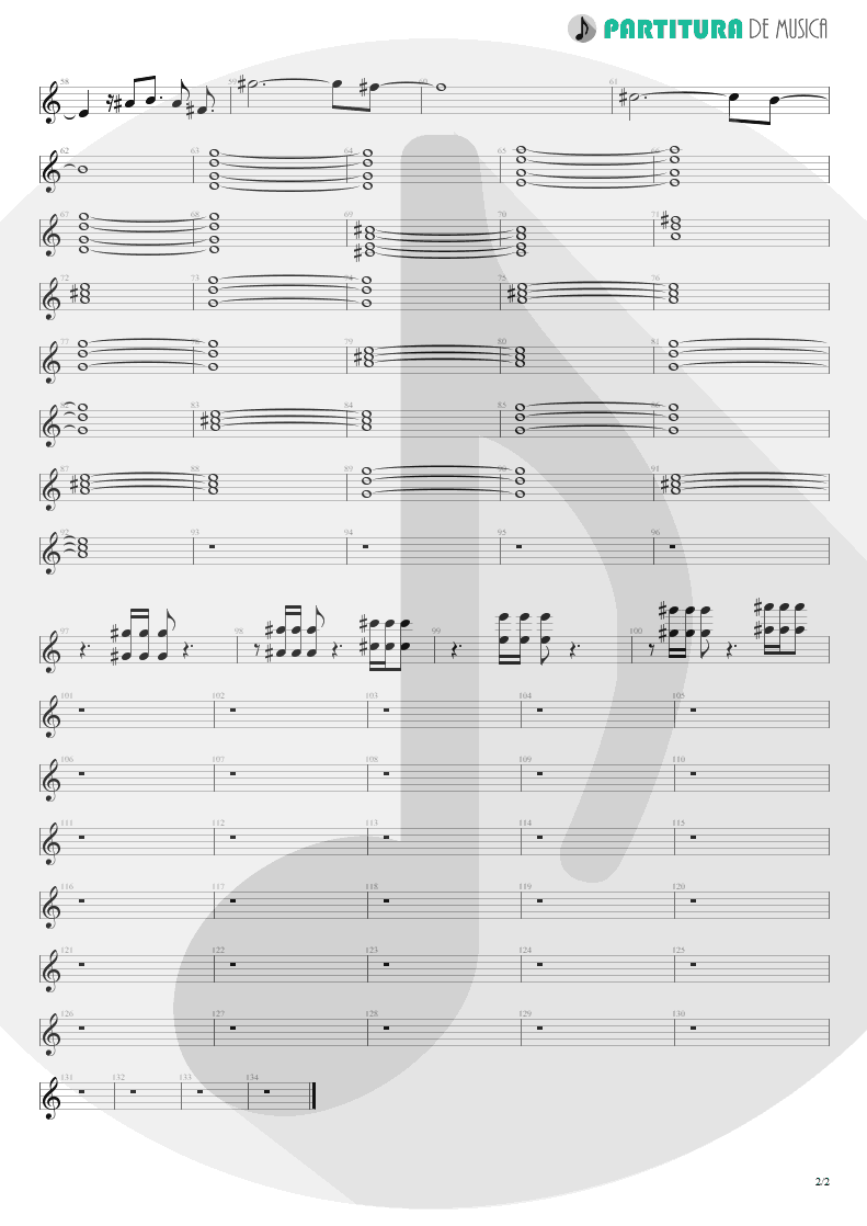 Partitura de musica de Teclado - Your Eyes | Oficina G3 | Indiferença 1996 - pag 2