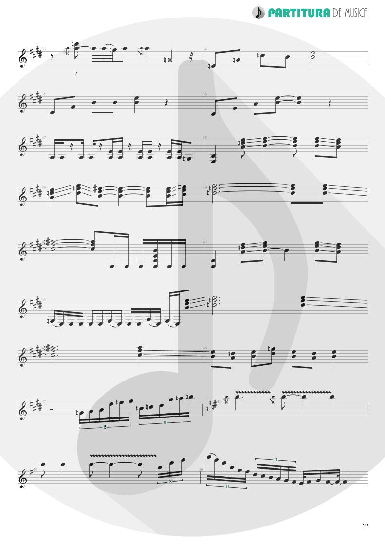 Partitura de musica de Guitarra Elétrica - Ele Vive | Oficina G3 | O Tempo 2000 - pag 3
