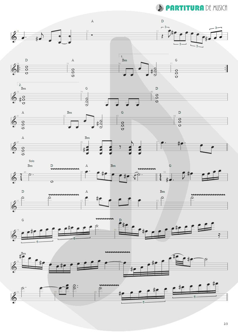 Partitura de musica de Guitarra Elétrica - Te Escolhi | Oficina G3 | Humanos 2002 - pag 2
