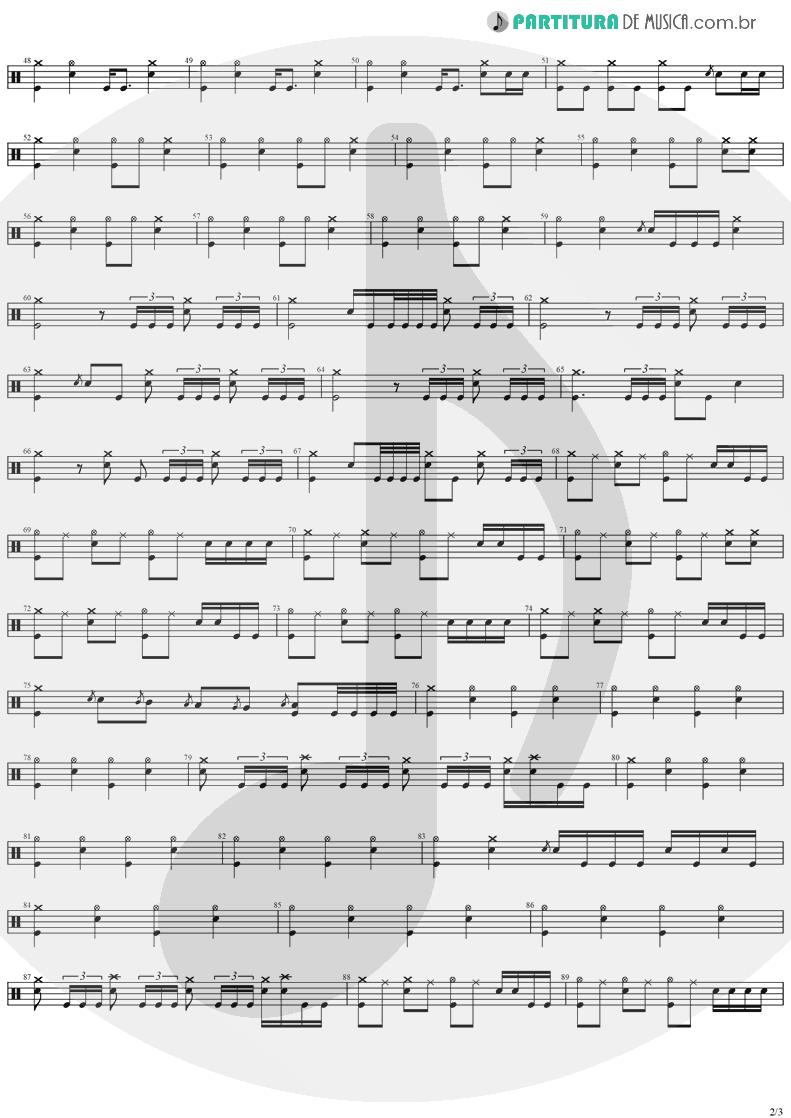 Partitura de musica de Bateria - Believer   Ozzy Osbourne   Diary Of A Madman 1981 - pag 2