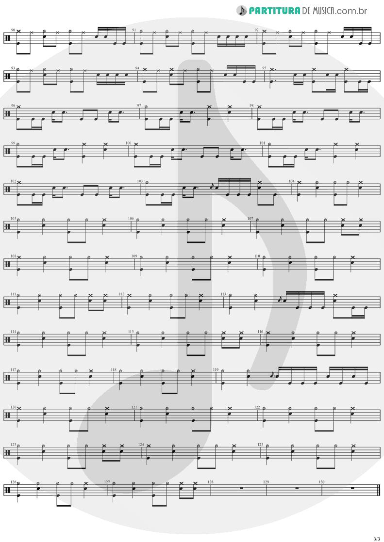 Partitura de musica de Bateria - Believer   Ozzy Osbourne   Diary Of A Madman 1981 - pag 3