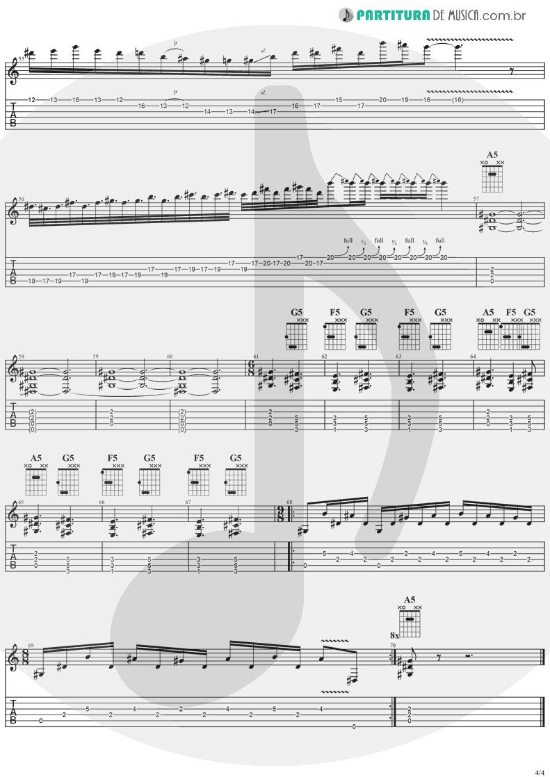 Tablatura + Partitura de musica de Guitarra Elétrica - Diary Of A Madman | Ozzy Osbourne | Diary Of A Madman 1981 - pag 4