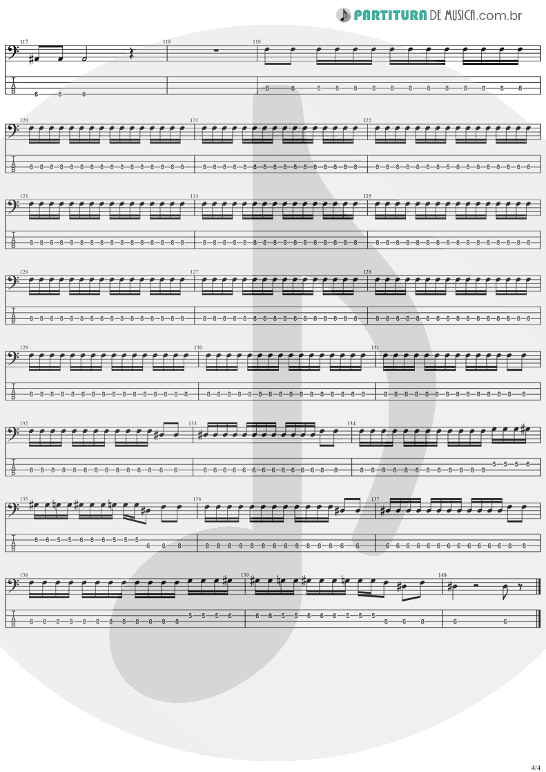 Tablatura + Partitura de musica de Baixo Elétrico - Iron Man | Ozzy Osbourne | Speak Of The Devil 1982 - pag 4