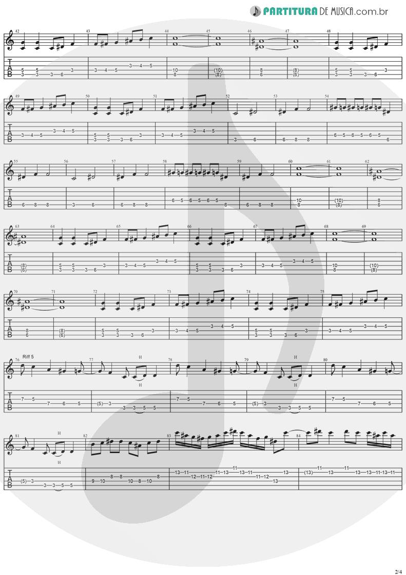 Tablatura + Partitura de musica de Guitarra Elétrica - Iron Man | Ozzy Osbourne | Speak Of The Devil 1982 - pag 2
