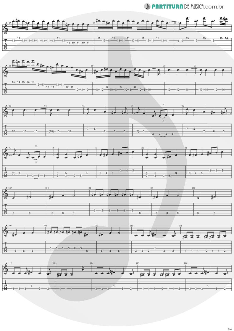 Tablatura + Partitura de musica de Guitarra Elétrica - Iron Man | Ozzy Osbourne | Speak Of The Devil 1982 - pag 3