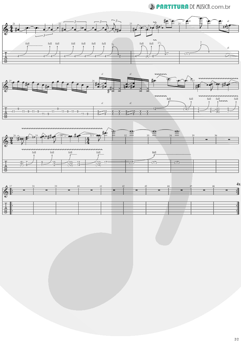 Tablatura + Partitura de musica de Guitarra Elétrica - Miracle Man | Ozzy Osbourne | No Rest For The Wicked 1988 - pag 2