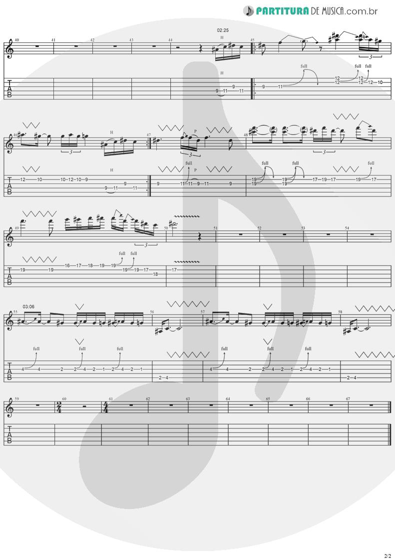 Tablatura + Partitura de musica de Guitarra Elétrica - Mama I'm Coming Home | Ozzy Osbourne | No More Tears 1991 - pag 2