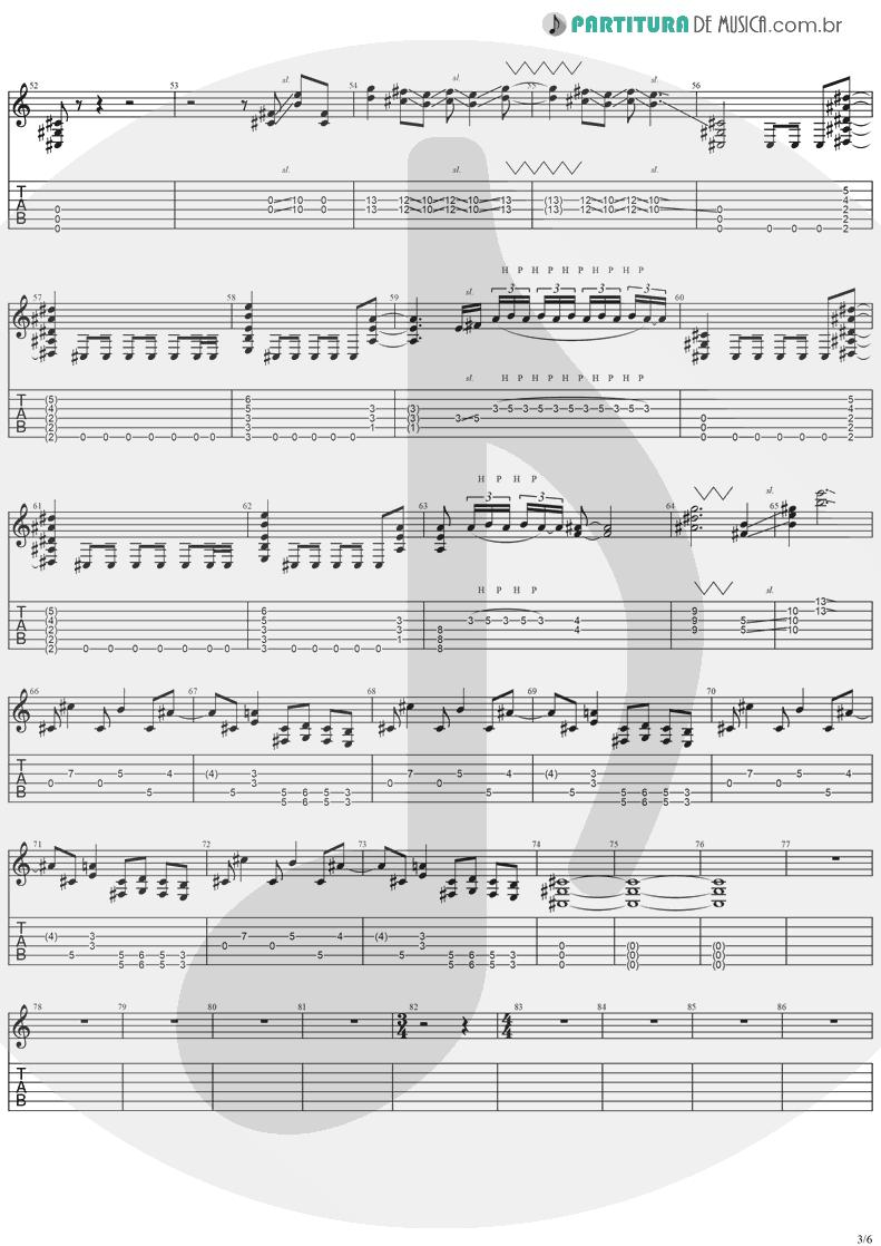 Tablatura + Partitura de musica de Guitarra Elétrica - No More Tears | Ozzy Osbourne | No More Tears 1991 - pag 3