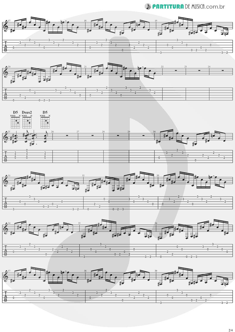 Tablatura + Partitura de musica de Violão - Road To Nowhere | Ozzy Osbourne | No More Tears 1991 - pag 2