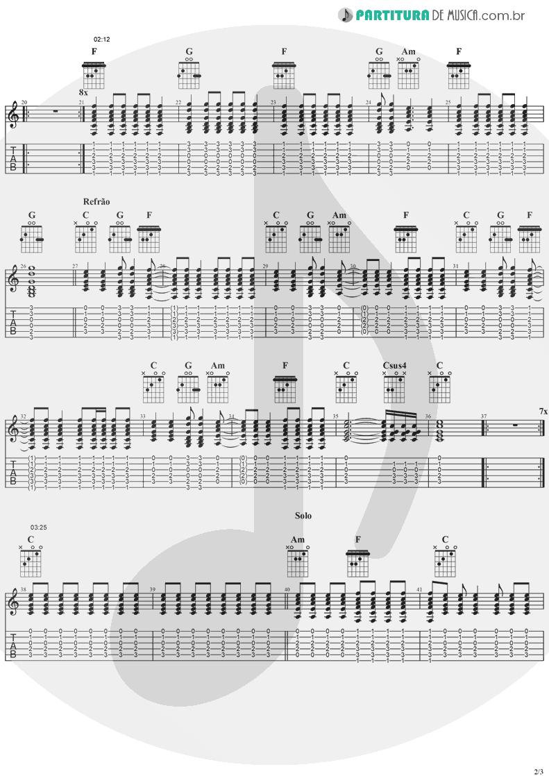 Tablatura + Partitura de musica de Guitarra Elétrica - Old L.A. Tonight | Ozzy Osbourne | Ozzmosis 1995 - pag 2