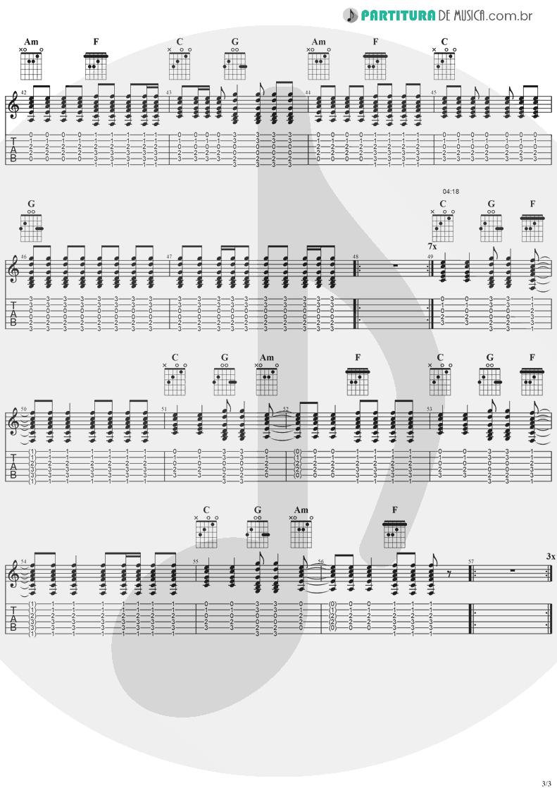 Tablatura + Partitura de musica de Guitarra Elétrica - Old L.A. Tonight | Ozzy Osbourne | Ozzmosis 1995 - pag 3