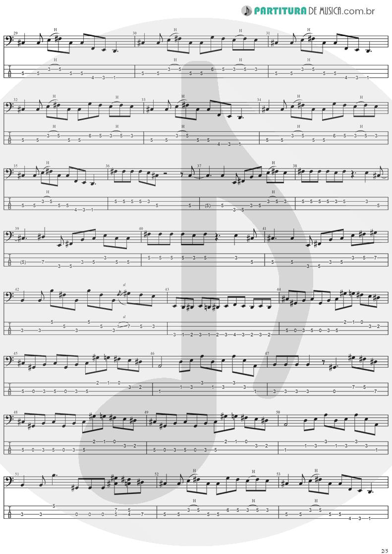 Tablatura + Partitura de musica de Baixo Elétrico - Perry Mason | Ozzy Osbourne | Ozzmosis 1995 - pag 2