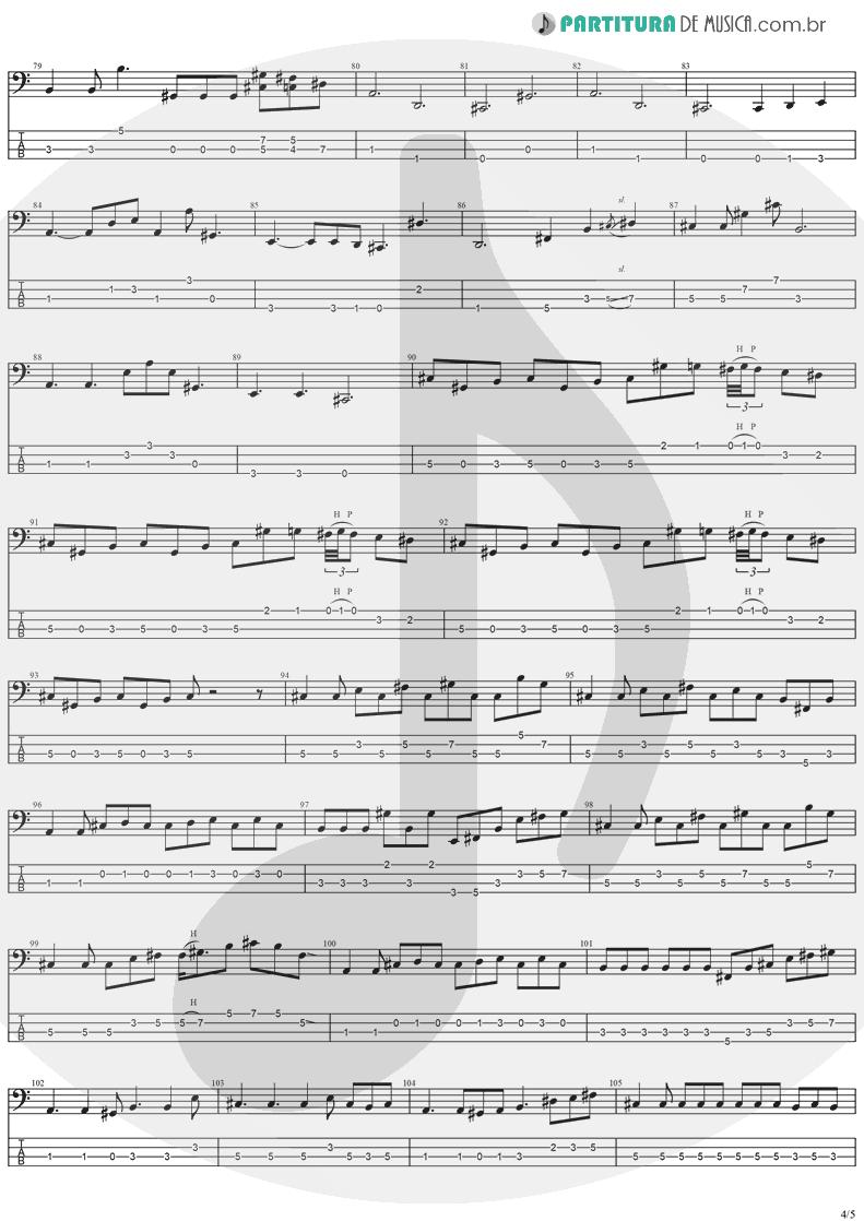 Tablatura + Partitura de musica de Baixo Elétrico - Perry Mason | Ozzy Osbourne | Ozzmosis 1995 - pag 4