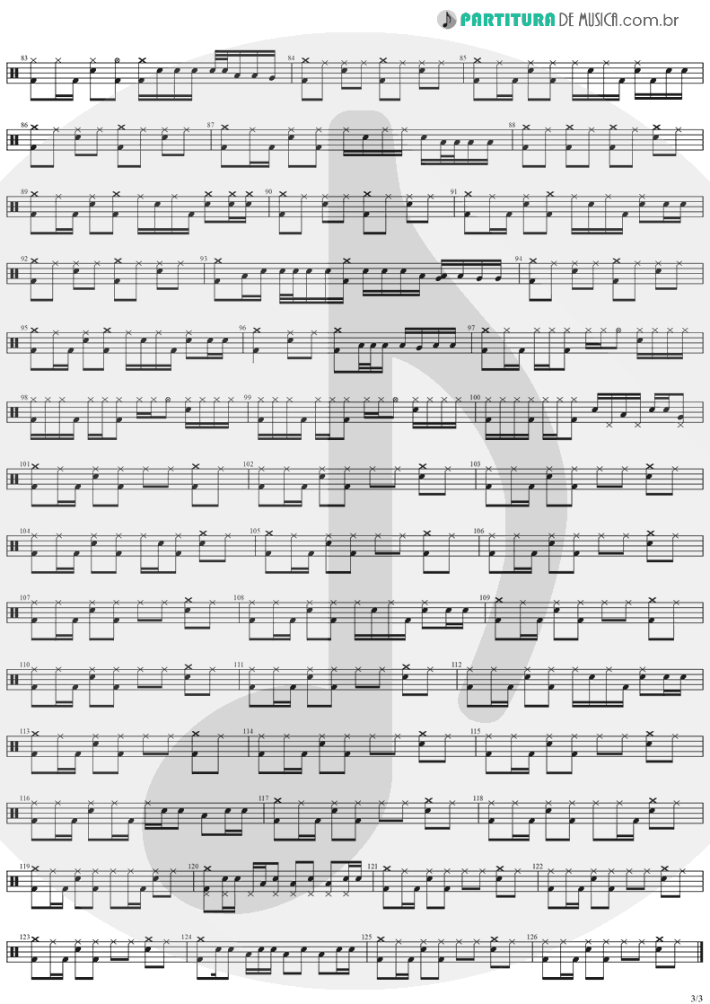 Partitura de musica de Bateria - See You On The Other Side   Ozzy Osbourne   Ozzmosis 1995 - pag 3