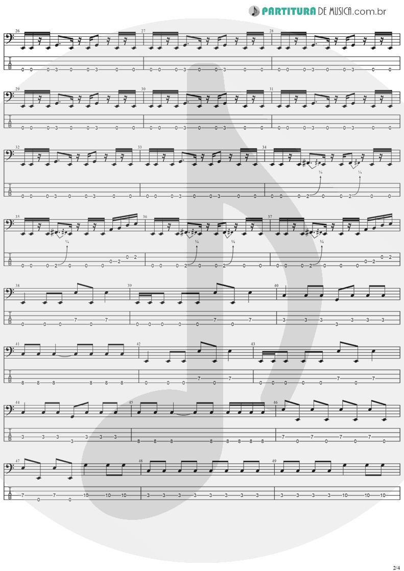 Tablatura + Partitura de musica de Baixo Elétrico - Gets Me Through | Ozzy Osbourne | Down To Earth 2001 - pag 2