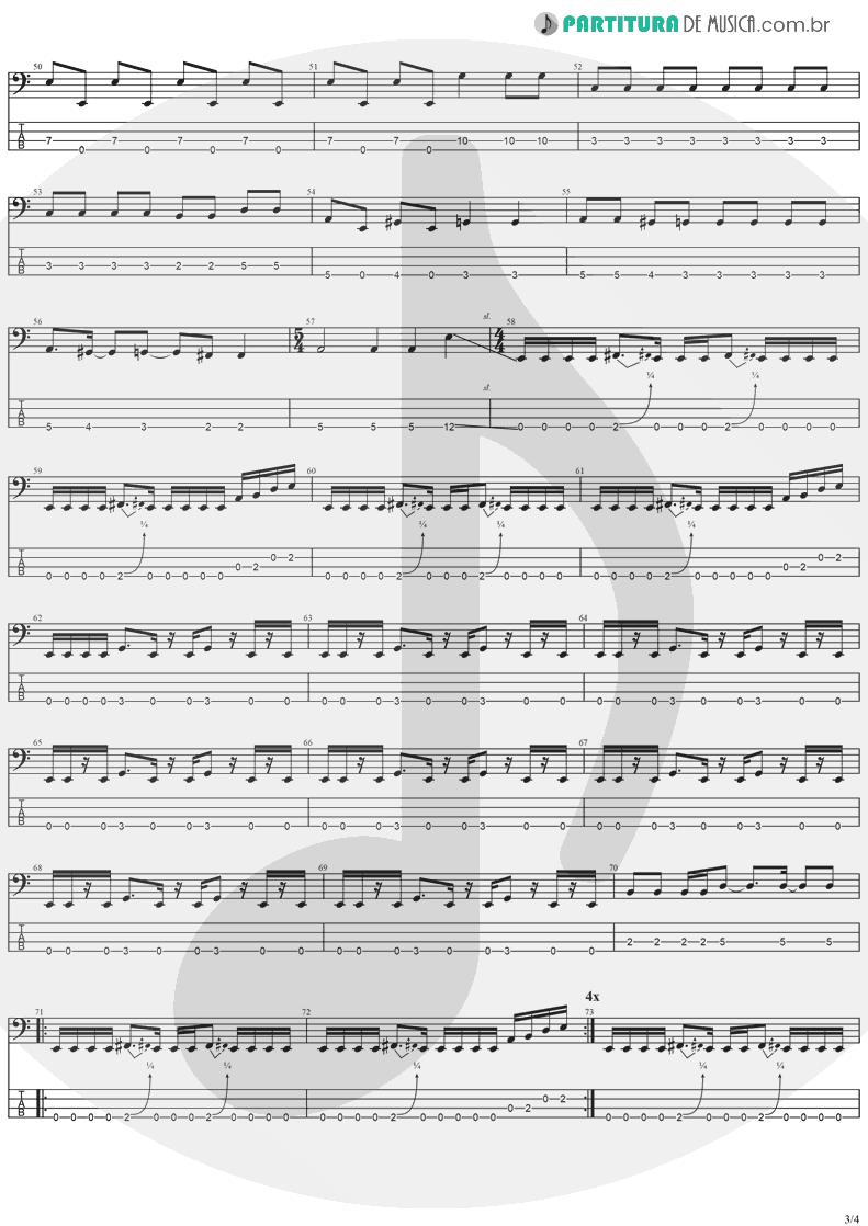 Tablatura + Partitura de musica de Baixo Elétrico - Gets Me Through | Ozzy Osbourne | Down To Earth 2001 - pag 3