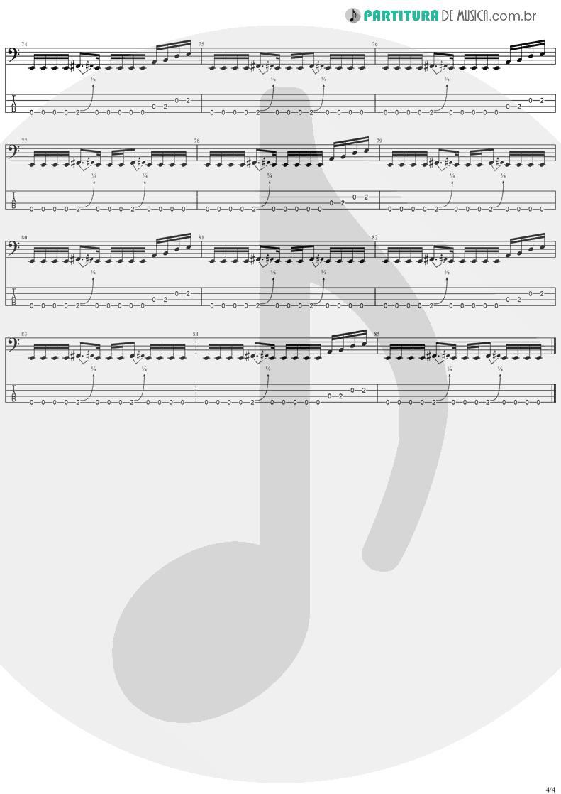 Tablatura + Partitura de musica de Baixo Elétrico - Gets Me Through | Ozzy Osbourne | Down To Earth 2001 - pag 4