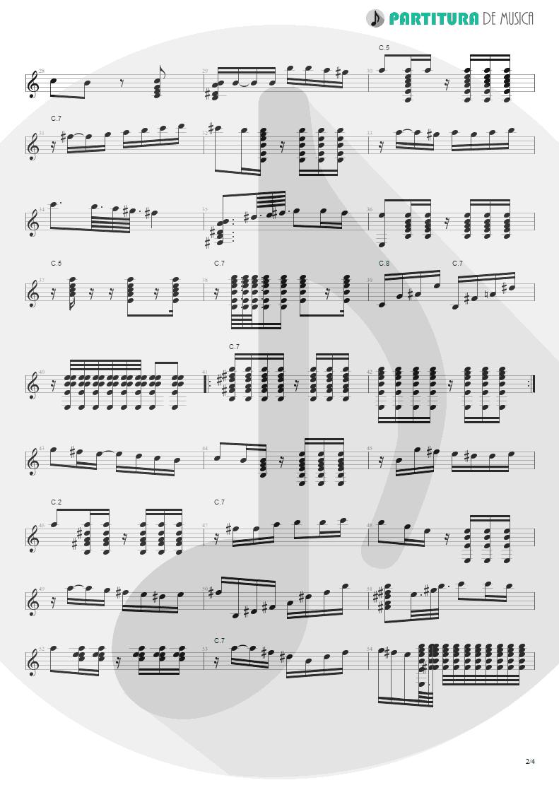 Partitura de musica de Violão - El Inclusero   Paco de Lucía   Canciones Andaluzas Para 2 Guitarras 1967 - pag 2