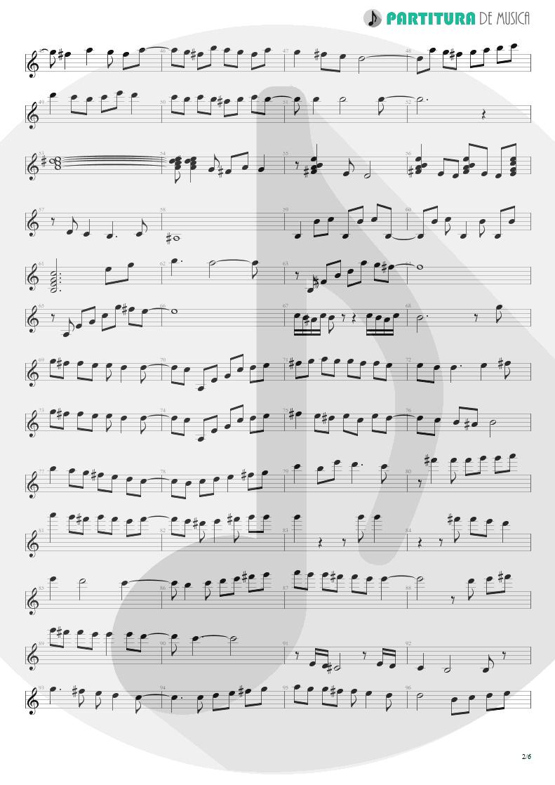 Partitura de musica de Violão - Entre Dos Aguas | Paco de Lucía | Fuente y Caudal 1973 - pag 2