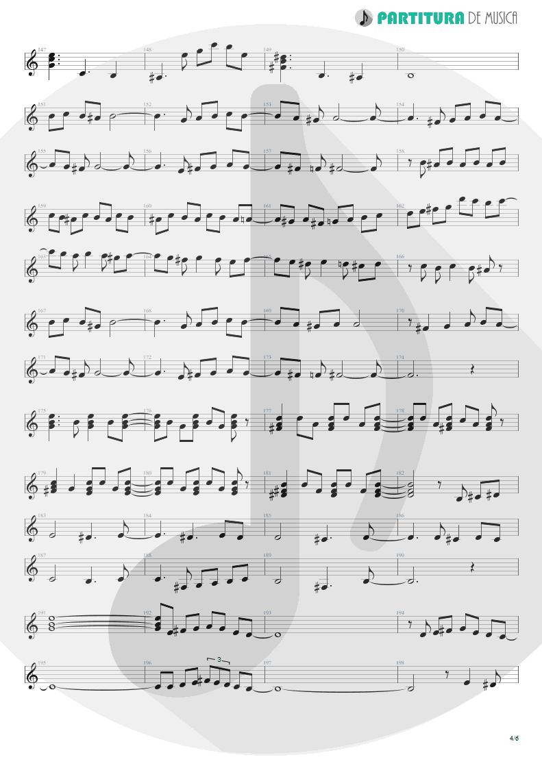 Partitura de musica de Violão - Entre Dos Aguas | Paco de Lucía | Fuente y Caudal 1973 - pag 4