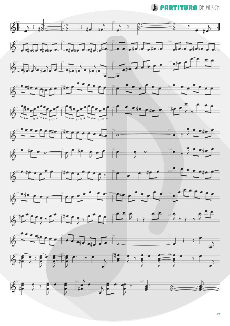 Partitura de musica de Violão - Entre Dos Aguas | Paco de Lucía | Fuente y Caudal 1973 - pag 5