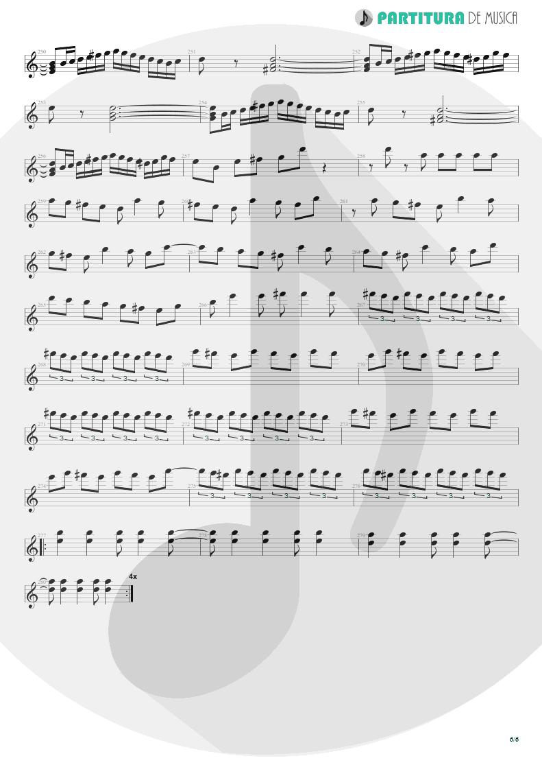 Partitura de musica de Violão - Entre Dos Aguas | Paco de Lucía | Fuente y Caudal 1973 - pag 6