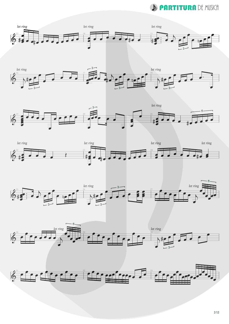 Partitura de musica de Violão - Plaza Alta | Paco de Lucía | Almoraima 1976 - pag 2