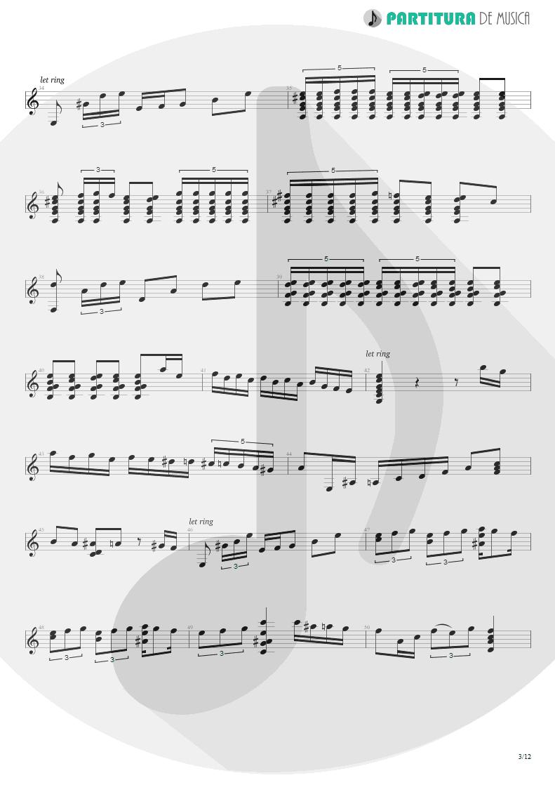 Partitura de musica de Violão - Plaza Alta | Paco de Lucía | Almoraima 1976 - pag 3