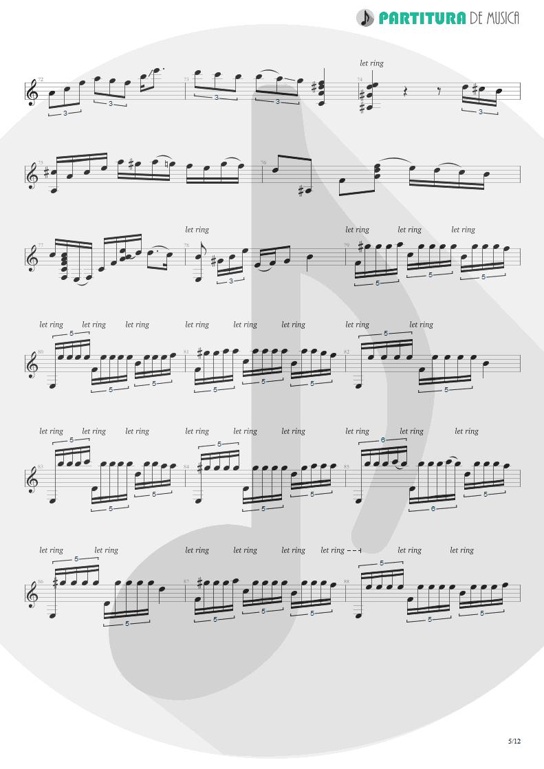 Partitura de musica de Violão - Plaza Alta | Paco de Lucía | Almoraima 1976 - pag 5