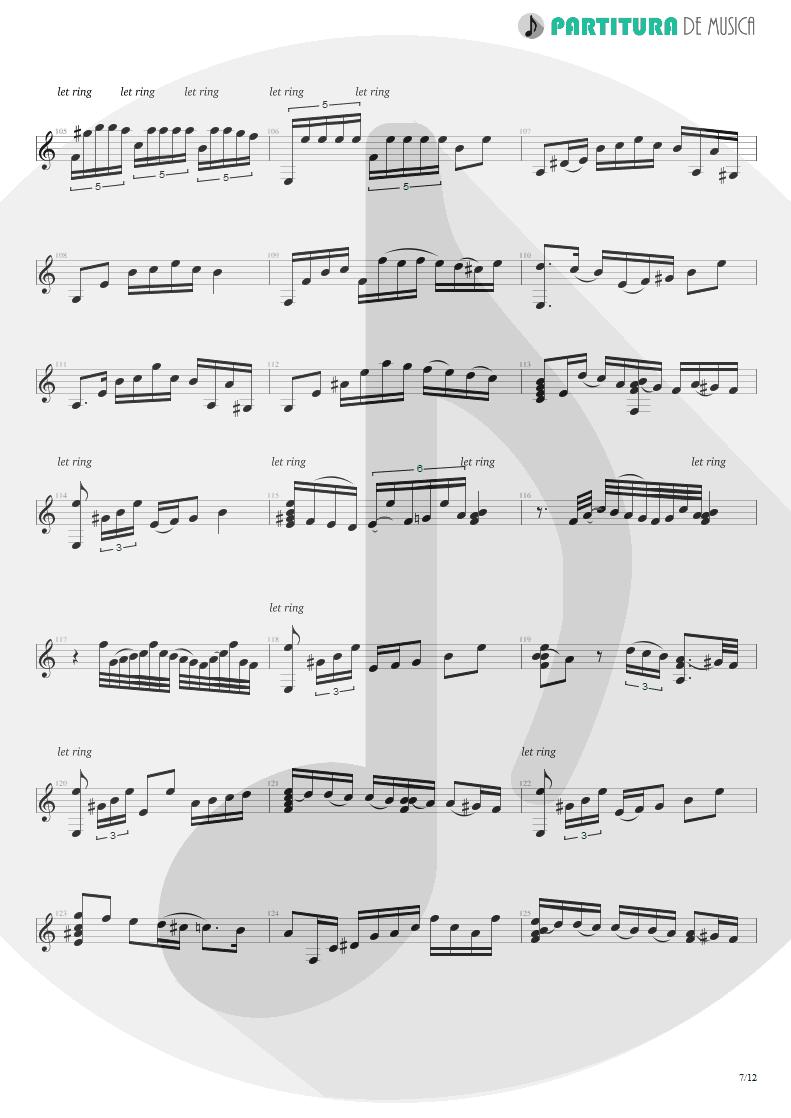 Partitura de musica de Violão - Plaza Alta | Paco de Lucía | Almoraima 1976 - pag 7